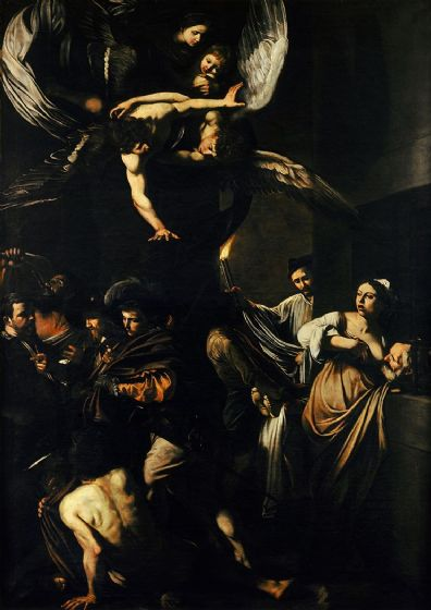 Caravaggio, Michelangelo Merisi da: The Seven Works of Mercy. Fine Art Print/Poster. Sizes: A4/A3/A2/A1 (002066)